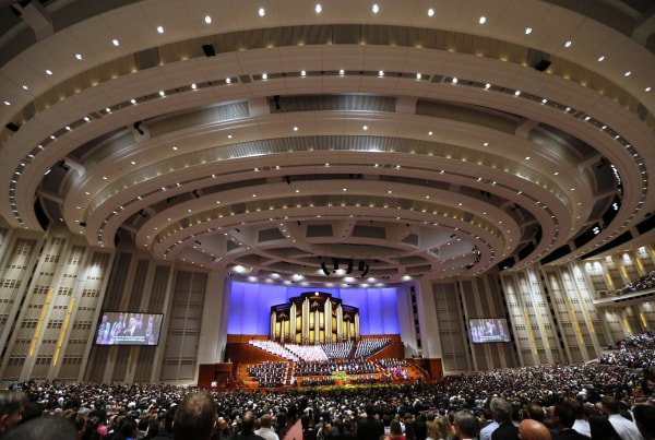 Image: Mormon Church's general conference in Salt Lake City, Utah