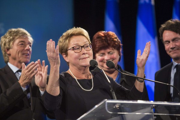 Image: Quebec Premier Pauline Marois announces her retirement after losing her seat