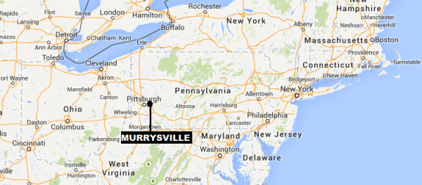 IMAGE: Map showing Murrysville, Pa.