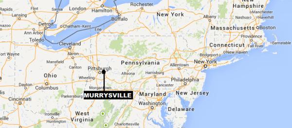 IMAGE: Map showing Murrysville, Pa.