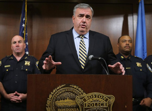Image: Boston Police Commissioner Ed Davis at the time of the bombings