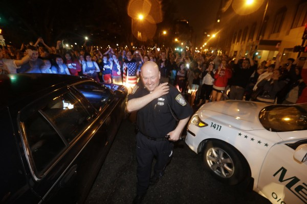 Image: Boston celebrates end of Boston Marathon bombing manhunt