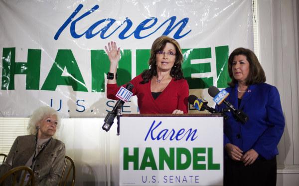 Image: Sarah Palin, Karen Handel