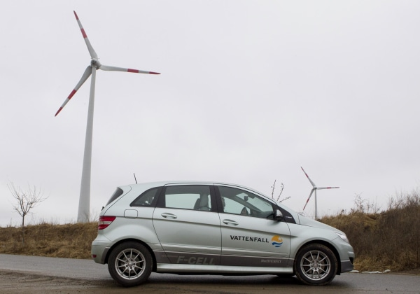 Image: A Mercedes hydrogen-powered car