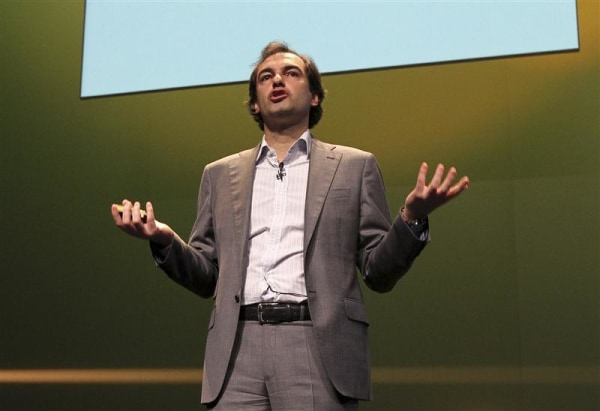 Image: Then-Google VP Henrique De Castro delivers a speech during Cannes Lions 2010 International Advertising Festival in Cannes