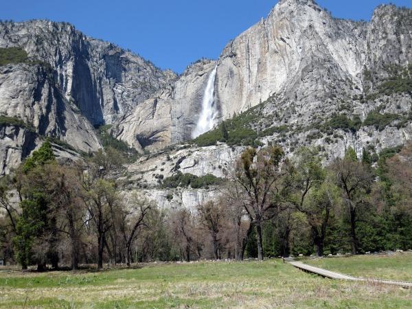 Image: Yosemite Falls is seen in Yosemite National Park