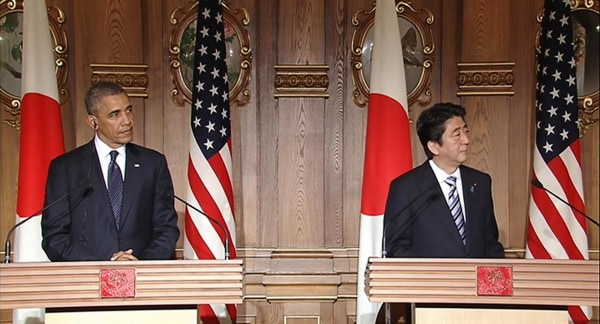 Image: President Obama and Japanese Prime Minister Shinzo Abe hold joint news conference