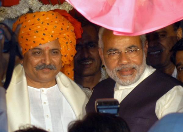 Image: Pravin Togadia and Narendra Modi in 2005
