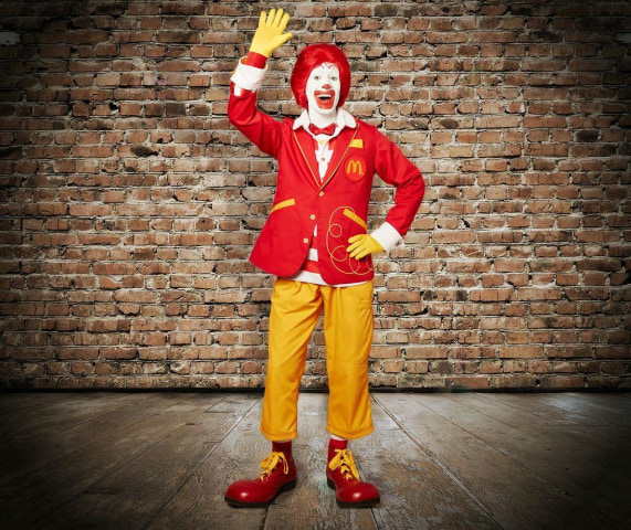 Ronald McDonald's new look