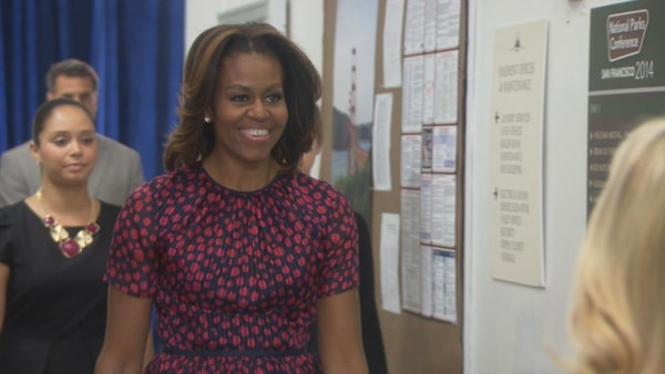 Image: Michelle Obama as herself in a scene from Parks and Recreation.