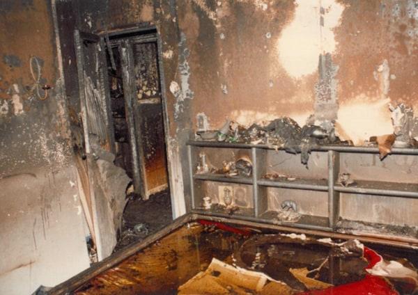 Image: The Gavitt home after the fire