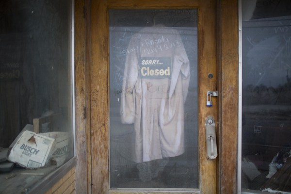 Image: Carlin's Hardware store sits closed in Picher