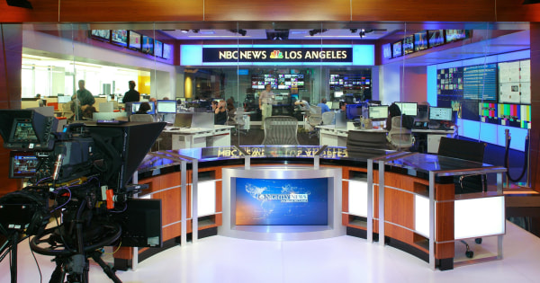 Image: The new NBC newsroom in Los Angeles