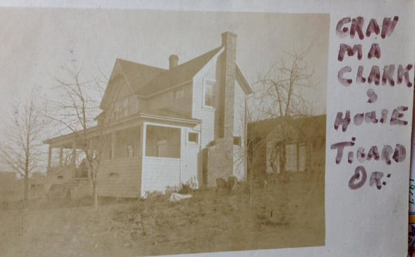 Image: A historical photo of Marvin Clark's home in Tigard, Oregon.