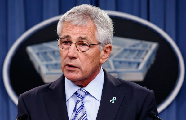 Image: Chuck Hagel makes remarks about the Defense Department's sexual assault prevention and response program at the Pentagon  n Washington