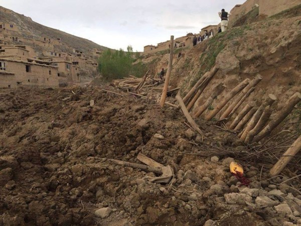 Image: The scene of a landslide in Afghanistan