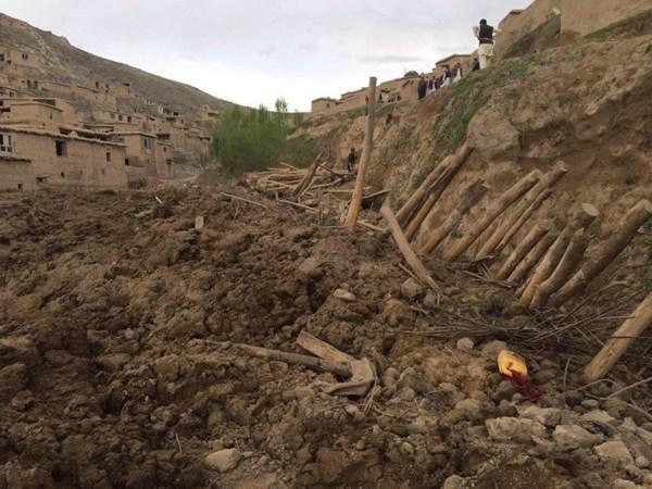 Image: The scene of a landslide in Afghanistan