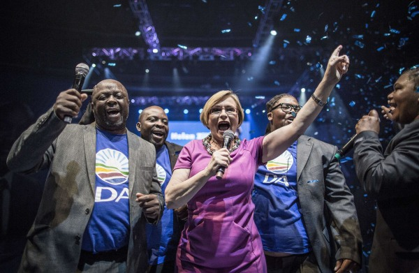 Image: Helen Zille, leader of South Africa's largest opposition party Democratic Alliance