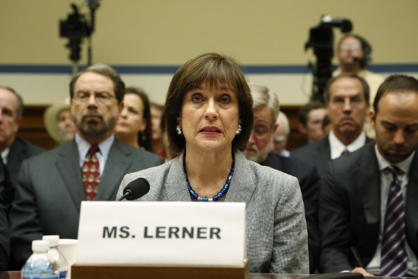 Image: File photo of Lerner preparing to deliver an opening statement to a House Oversight and Government Reform Committee hearing in Washington