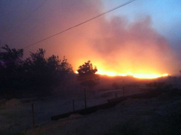 A wildfire in the Texas panhandle.