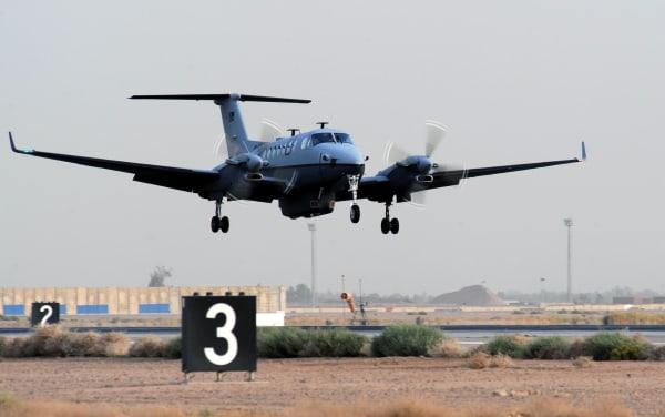 Image: The MC-12 aircraft