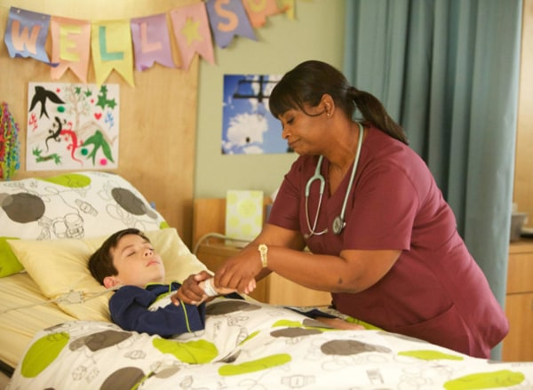 Image: Pictured L-R: Griffin Gluck and Octavia Spencer on Fox's 'Red Band Society'