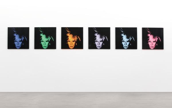 """Six Self Portraits"" by Andy Warhol"