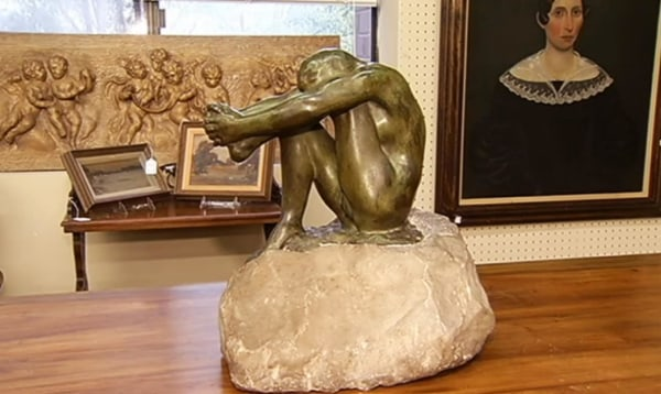 Image: A sculpture cast by renowned French sculptor Auguste Rodin that could fetch around $135,000 in auction.