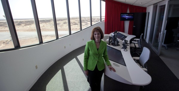 Image: Christine Anderson, Executive Director New Mexico Spaceport Authority , inside the center's mission control