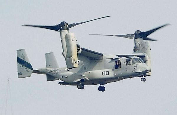 An MV-22 Osprey aircraft of the U.S. Marine Corps