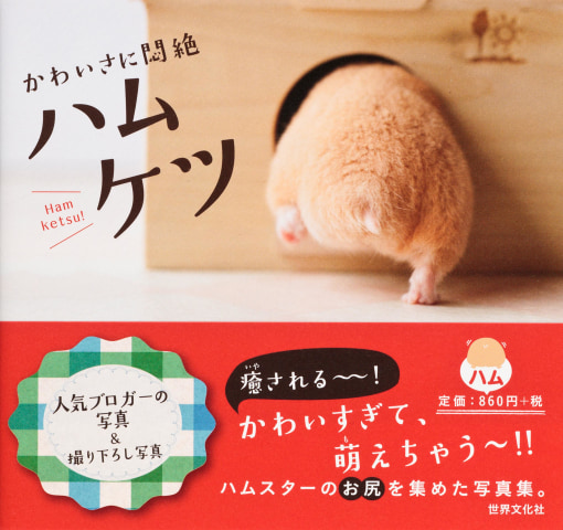 The cover of the book 'Hamuketsu, You Could Faint by Its Cuteness'.