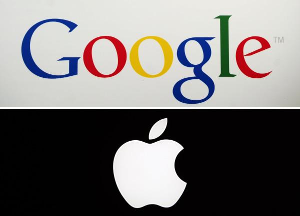 Image: Google and Apple logos