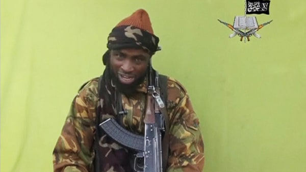 Image: Boko Haram leader Abubakar Shekau speaks at an unknown location in this still image taken from an undated video released by Boko Haram