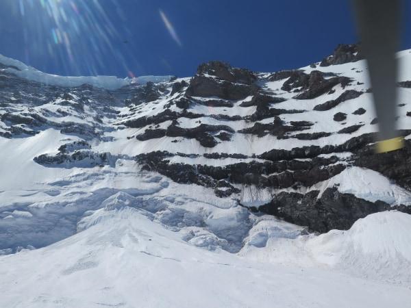 Image: Mount Rainier climbing accident area