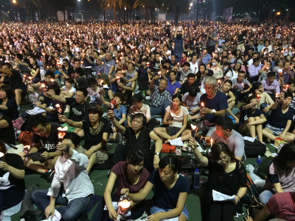 Image: Tiananmen Square Commemoration in Hong Kong