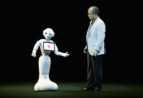 Image: Masayoshi Son and Pepper