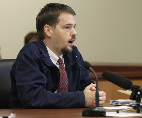 Image: Josh Powell speaks in court in Sept. 28, 2011.