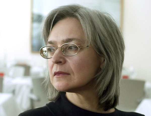 Journalist Anna Politkovskaya was found murdered in the elevator of her apartment building in Moscow in 2006