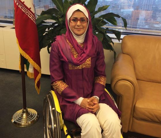 Image: Zahra Nemati at the U.N. in New York.