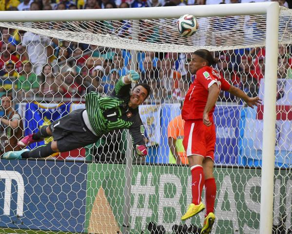 Image: Switzerland's goalkeeper Diego Benaglio