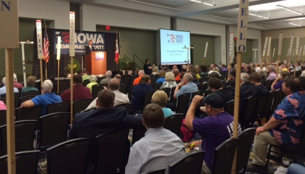 Image: Maryland Gov. Martin O'Malley speaks June 21, 2014, to delegates with the Iowa Democratic Party