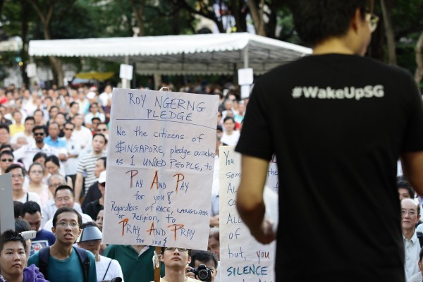 Image: Singaporeans Protest Against Central Provident Fund (CPF) scheme