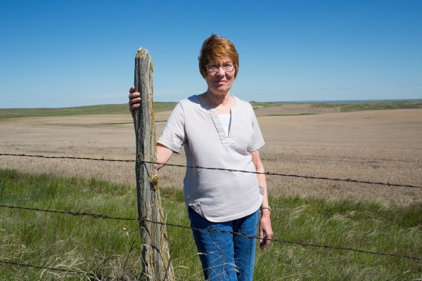 Image: Janet Wolf in her wheat field