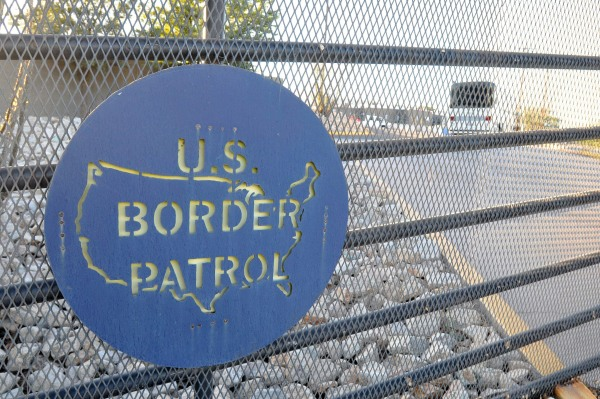Image: US Border Protection at Nogales city in Santa Cruz County, Arizona