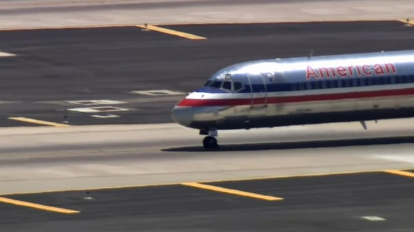 Image: The plane, bound from San Diego to Dallas, made an unscheduled stop in Phoenix Wednesday due to a passenger disturbance.