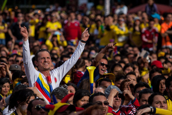Image: COLOMBIAN SUPPORTERS CELEBRATE