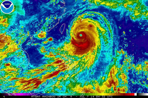 Image: Typhoon Neoguri, the first super typhoon of 2014