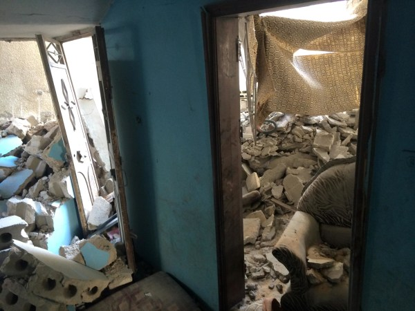 Image: The inside of Maher's house after it was destroyed by an airstrike in Gaza