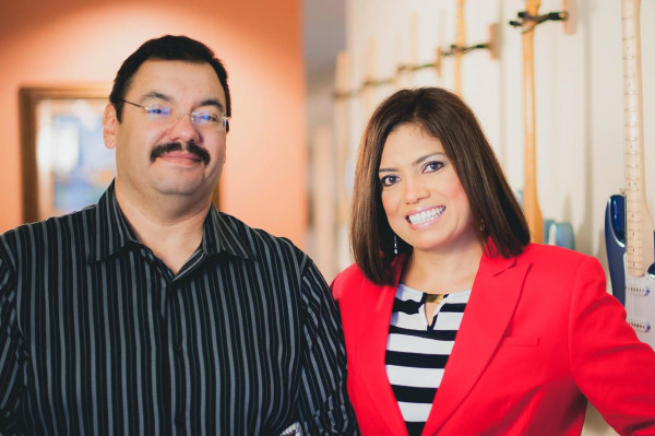 Image: Luis and Lupita Montoto, programming directors of Madison, Wisconsin's La Movida 1040 AM radio station.