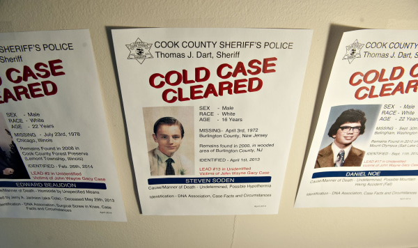 Image: Posters highlighting three cold cases